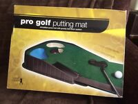 golf PPro putting Mat and putting cup