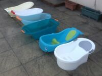 Baby bathtubs-several available from £2 to £5 each-all washed and cleaned in full usable condition
