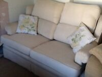 2 X 2 seater sofas , cream in colour