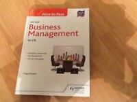 How to pass higher business management for cfe by hodder Gibson