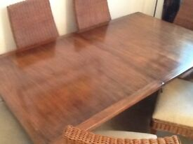 Multiyork oak table and 6 chairs