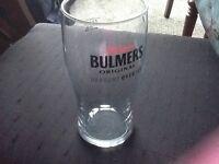 1 box 22 bulmers cider pint glasses