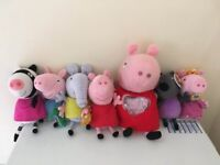 Big bundle of Peppa Pig soft toys £15 collection from Shepshed. (or can post)