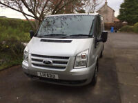 SILVER FORD TRANSIT REG: LUI 6312 AND MUSIC GEAR STOLEN FROM BRIGHTONS, FALKIRK