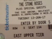 Two stone roses tickets for sale