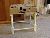 Chalk painted stool