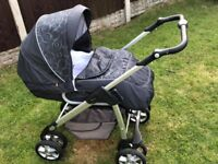 Silver Cross Pushchair, Car seat and Isofix base and Accessories