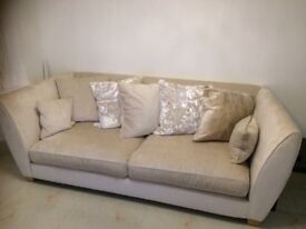 Brand new 3 piece sofa set and foot stool, 1 week old. Lovely set but too many pieces for us