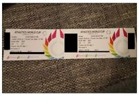 Athletics World Cup tickets for sale