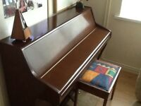 Bentley Compact Piano Circa 1960's British built + stool
