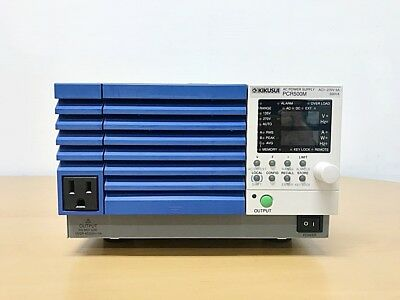 Kikusui Pcr500m Ac Power Supply Ac 1-270v 5a 500va