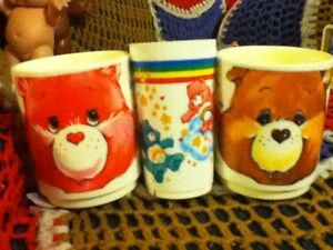Children's Care bear & 2 Smurf children mugs