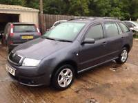 ** NEWTON CARS ** 06 56 SKODA FABIA 1.9 TDI PD 100 ESTATE, GOOD OVERALL,S/H, MOT APR 2019, P/EX POSS