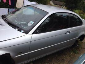 BMW E46 Coupe Convertible Titan Silver Passenger Door 318 320 325 328 330