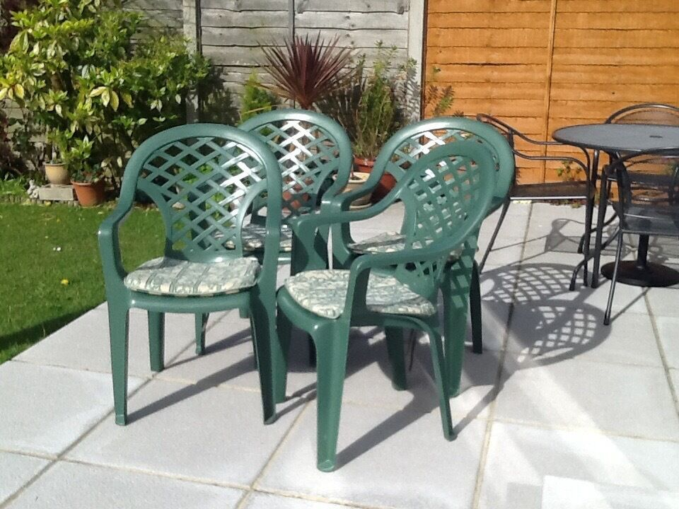 Green Plastic Garden Chairs With Buy Sale And Trade Ads