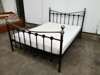 Metal Double Bed Frame & Mattress Used Furniture