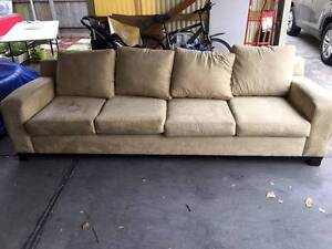 Suede 4 seater couch Coburg Moreland Area Preview