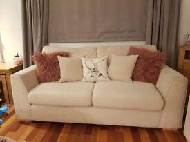 2 dfs cream sofas for sale