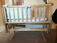 Mothercare gliding crib with matress!