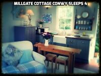 October Holiday Cottage Rental Conwy Dog Friendly near Llandudno Snowdonia Anglesey Sleeps 4