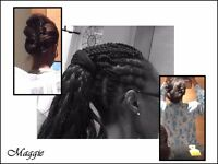 Braids plaits cornrows formal occasion hair dresser. Afro-Caribbean and African hair styles.