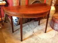 Antique Demi lune hall table