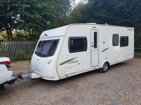 2011 Lunar Lexon SB 4 berth caravan FIXED SINGLE BEDS, MOTOR MOVER, AWNING !