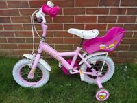 childs apollo 14 inch bike with stabalisers