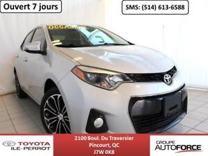 2014 Toyota Corolla S UPGRADE, A/C, TOIT OUVR, MAGS, BLUETOOTH++