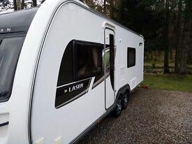 Coachman Touring Caravan Laser 640/4 (2012) & Bradcot Residential Awning