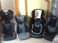From £20 to £35 each-several group 2 3 full highback 2 piece booster car seats for 4yr to 12yr olds