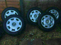 5x VW Multivan alloys Volkswagen T4 Transporter Caravelle wheels 205/65R15 tyres
