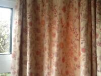2 pairs of curtains, floral, suit bay window & double doors