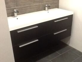 New Double Basin & Cabinet + matching Back to wall WC unit