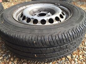 VW Steel wheels with tyres
