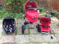 Quinny buzz Rebel red travel system