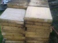 Buff paving stones 450 X 450 X 70
