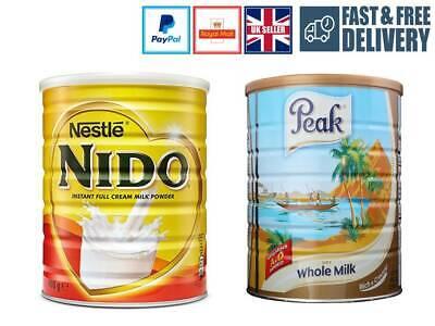 Instant Full Cream Dry Milk Powder Nestle Nido & Peak Rich Creamy UK Seller