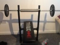 Weights with weights bench