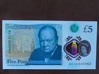 AC14 new plastic £5.00 note