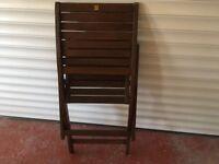Two Folding Hardwood Chairs