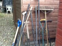 Various Used Garden Tools