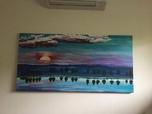 Acrylic Framed Painting Cable Beach Broome City Preview