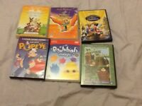 6 CHILDRENS DVDs