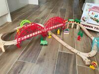 Wooden Train set (60 pieces)