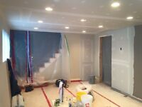 Drywall, crackfilling and painting