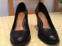 Ladies black court shoes