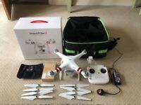 DJI Phantom 3 Standard with backpack, in car charger and lens filters