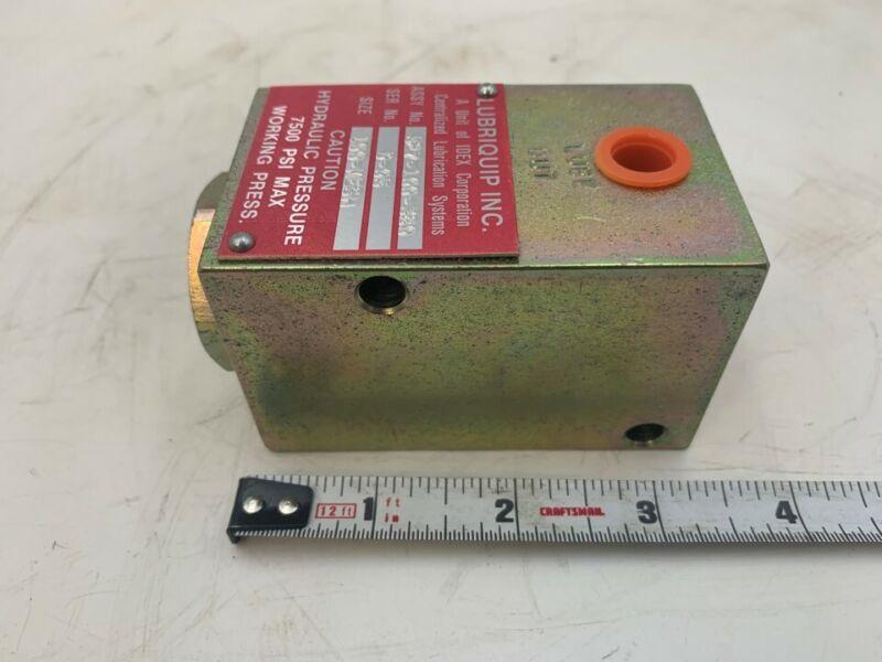 Lubriquip Hydraulic Valve Block Model: 527-100-380 Size: 100-MESH