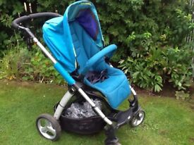 Mamas and papas sola pushchair with carry cot and foot muff